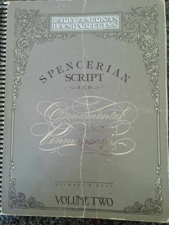 American calligrapher Michael Sull's definitive work on Spencerian calligraphy, Barbara Calzolari's Spencerian workshop, Centro Sociale Giorgio Costa, Bologna, April 2–3, 2016 (photo: Miriam Jones).