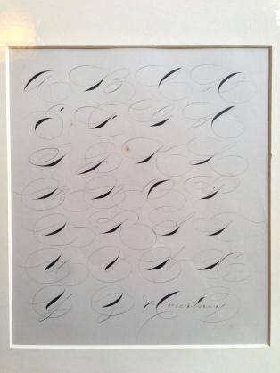 Examples of capital letters, Spencerian workshop, Centro Sociale Giorgio Costa, Bologna, 3 April 2016 (photo: Miriam Jones).