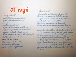 An example of Paola Bontadini's penmanship (photo: Miriam Jones).